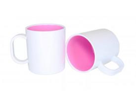 Caneca de Polímero Interior Colorido Para Sublimação-Rosa Bebê