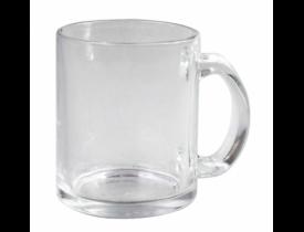 Caneca de Vidro Transparente Cristal para sublimação - NACIONAL