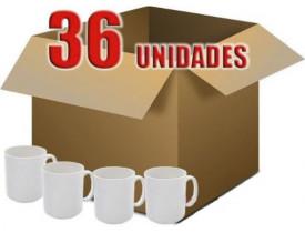 36 Canecas Branca Porcelana Nacional P/ Sublimação ( SUBLIME )
