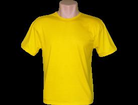 Camiseta Amarela Tradicional 100% Poliester Para Sublimação