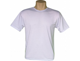 Camiseta Branca Tradicional 100% Poliester Para Sublimação