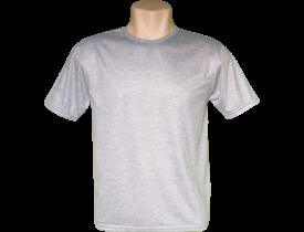 Camiseta Cinza Mescla Tradicional 100% Poliester Para Sublimação
