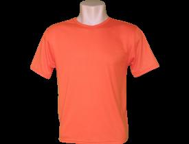 Camiseta Laranja Tradicional 100% Poliester Para Sublimação