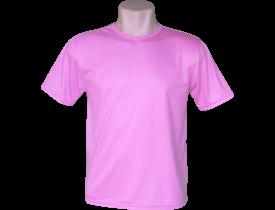 Camiseta Rosa Tradicional 100% Poliester Para Sublimação