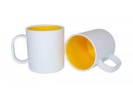 Caneca de Polímero Interior Colorido Para Sublimação-Amarelo Ouro