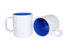 Caneca de Polímero Interior Colorido Para Sublimação-Azul escuro