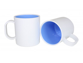 Caneca de Polímero Interior Colorido Para Sublimação-Azul claro