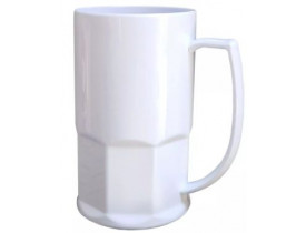 Caneca de Chopp Polimero Branca 500ml P/ Sublimação