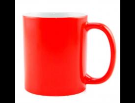 Caneca de Cerâmica Para Sublimação Vermelho Neon