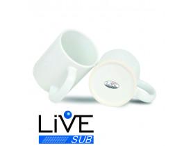 Caneca Branca Porcelana Para Sublimação Classe AAA -- LIVE