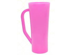 Caneca Long em Acrilico 400ml Rosa Pink - Unidade