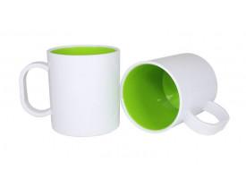 Caneca de Polímero Interior Colorido Para Sublimação-Verde