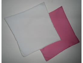 Capa de Almofada para Sublimação 30x30 Verso Rosa