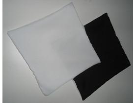 Capa de Almofada para Sublimação 30x30 Verso Preto