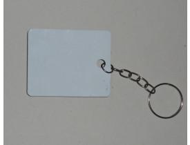 Chaveiro Retangular MDF Para Sublimação Pacote 10 Unidades