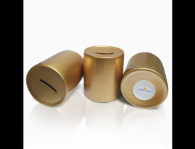 Cofrinho de Ceramica Dourado para Sublimação
