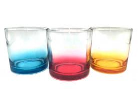 Copo de Vidro Para Sublimação Fundo Colorido