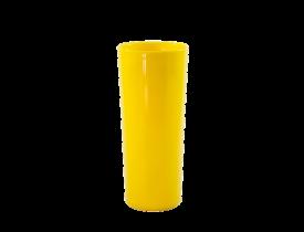 Copo Long Drink Amarelo 350 ml Caixa C/ 100 Unidades