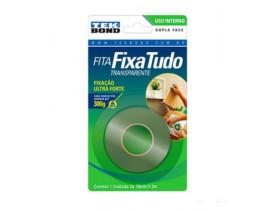 Fita acrílica dupla face para uso interno 19mmx2m incolor Tekbond