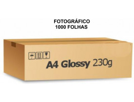 Papel Fotografico A4 Glossy Brilhante 230g Caixa C/ 1000 Folhas