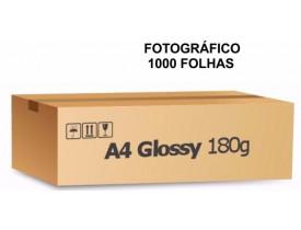 Papel Fotografico A4 Glossy Brilhante 180g Caixa C/ 1000 Folhas