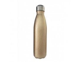 Garrafa Térmica em Aço Inox Glitter Dourada - 500ml Para Sublimação