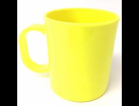 Caneca de Polímero Amarelo Neon para Sublimação
