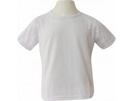 Camiseta Branca Infantil 100% Poliester Para Sublimação