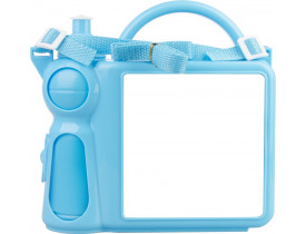 Lancheira de Plástico Azul Bebê para Sublimação