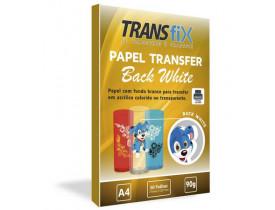 Papel Transfer Laser Back White Fundo Branco Transfix 50 Folhas