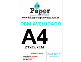 PAPEL OBM A4 AVELUDADO 01 FOLHA