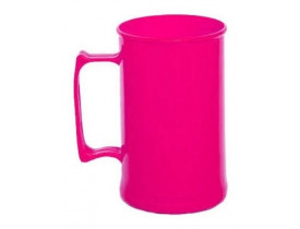 Caneca Acrílica 300ml Rosa Pink Leitosa - Unidade
