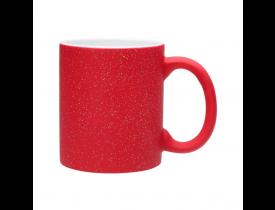 Caneca Magica Vermelha Com Glitter Para Sublimação