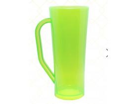 Caneca Long em Acrilico 420ml Verde Neon - Unidade