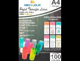 Papel Transfer Laser 120g Mecolour  Pacote com 100 Folhas